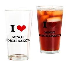 I love Minot North Dakota Drinking Glass
