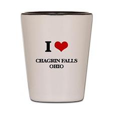 I love Chagrin Falls Ohio Shot Glass