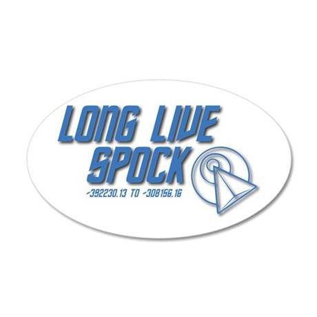Long Live Spock! 35x21 Oval Wall Decal