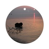 Black Lab at Sunset Ornament (Round)