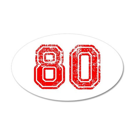 80-Col red Wall Decal