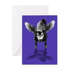 Pug Angel Greeting Card