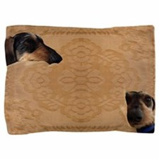 Funny Wirehaired dachshunds rescue Pillow Sham