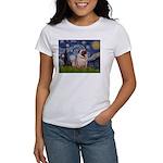 Starry Night and Pug Women's T-Shirt