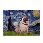 Starry Night and Pug Postcards (Package of 8)