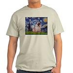 Starry Night and Pug Light T-Shirt