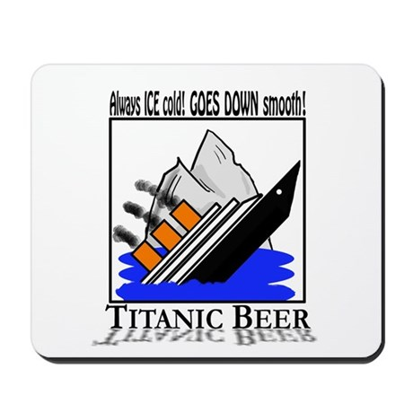 Titanic Beer Mousepad
