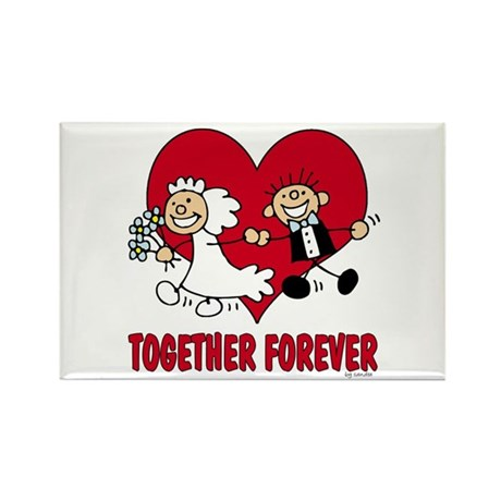Together Forever Rectangle Magnet (100 pack)