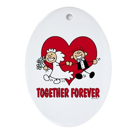 Together Forever Oval Ornament