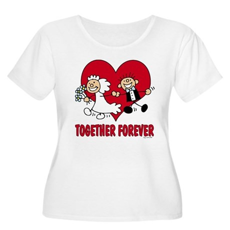 Together Forever Women's Plus Size Scoop Neck T-Sh