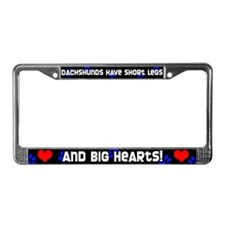 Short Legs Dachshund License Plate Frame Blue