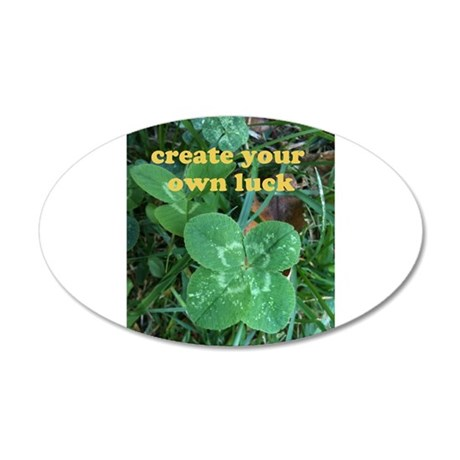 Create Your Own Luck Four Leaf Clover Wall Decal