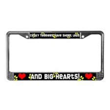 Short Legs Cesky Terrier License Plate Frame Yllw