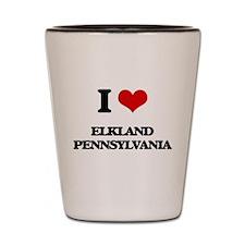 I love Elkland Pennsylvania Shot Glass