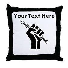 Custom Writer Power Throw Pillow