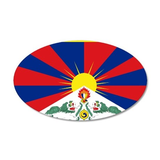 Tibet flag 35x21 Oval Wall Decal