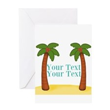 Personalizable Palm Trees Greeting Cards