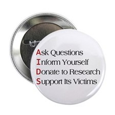 "AIDS - Acronym 2.25"" Button (10 pack)"