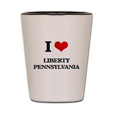 I love Liberty Pennsylvania Shot Glass