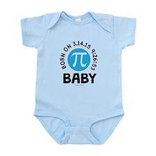 Born on 3.14.15 9:26:53 Baby Body Suit