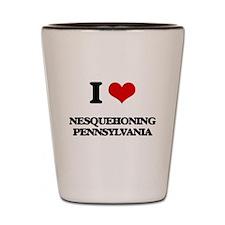 I love Nesquehoning Pennsylvania Shot Glass