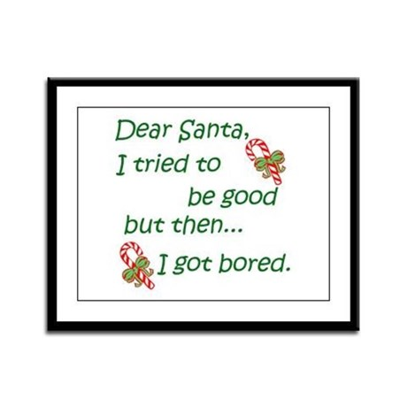 Dear Santa Framed Panel Print