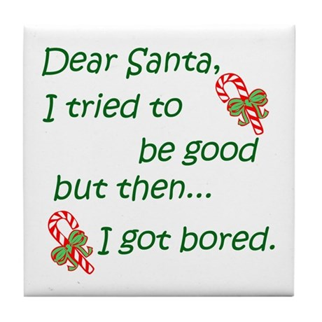 Dear Santa Tile Coaster