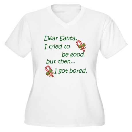 Dear Santa Women's Plus Size V-Neck T-Shirt