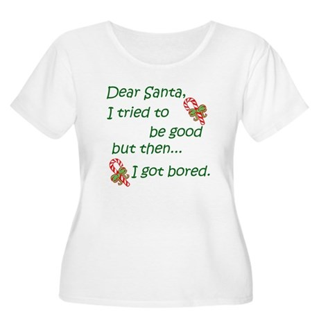 Dear Santa Women's Plus Size Scoop Neck T-Shirt