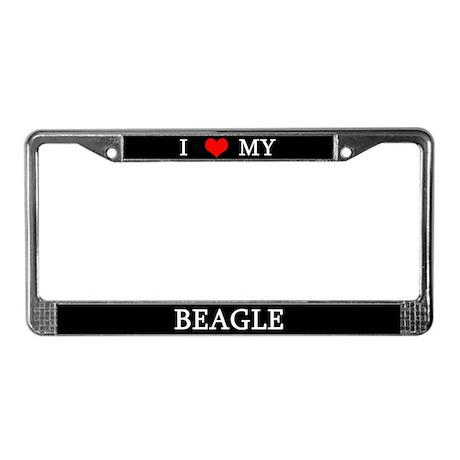 Love Beagle License Plate Frame