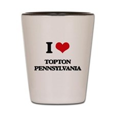 I love Topton Pennsylvania Shot Glass