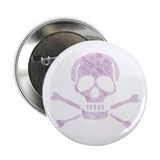 Floral Skull 2.25&quot; Button (100 pack)
