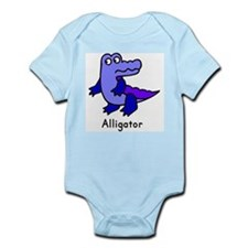Funny A is for alligator Infant Bodysuit