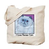 Blue Persian Cat Tote Bag