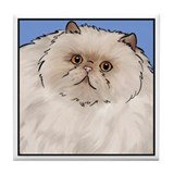 Cream Persian Cat Tile Coaster