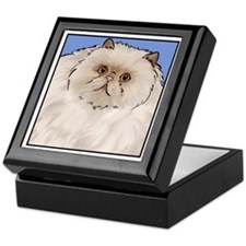 Cream Persian Cat Keepsake Box
