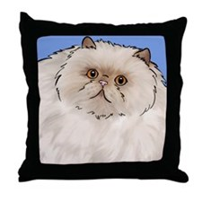 Cream Persian Cat Throw Pillow