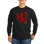 Scottish Lion Long Sleeve Dark T-Shirt