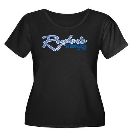Ryder's Plus Size Scoop Neck Dark T-Shirt