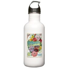 Peacock Poppies Water Bottle