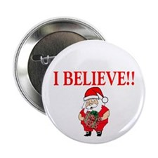 Santa- I Believe Button