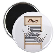 Washboard Blues Playing Magnet