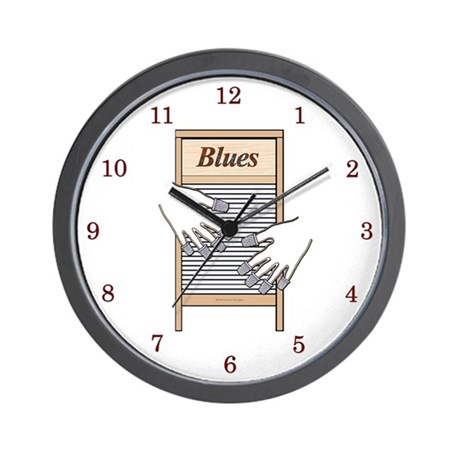 Washboard Blues Playing Wall Clock