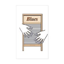 Washboard Blues Playing Rectangle Decal
