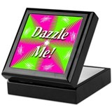 Dazzle Me Cyan Lime Keepsake Box