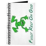 Green Cute Frog Journal