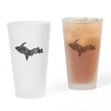 Mehndi Upper Peninsula UP by Kris Drinking Glass