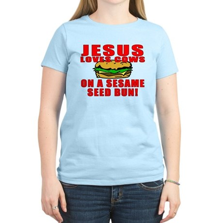 Jesus Loves Animals Women's Light T-Shirt