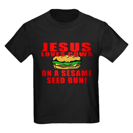 Jesus Loves Animals Kids Dark T-Shirt