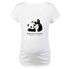 CUSTOM Baby Panda w/Name Birthdate Shirt